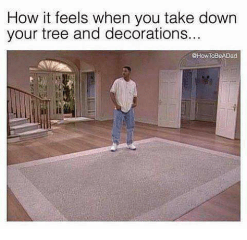 How It Feels When You Take Down Your Tree and Decorations ...