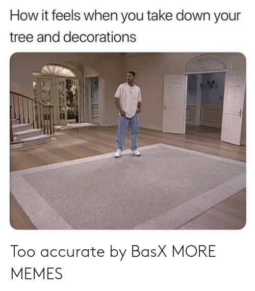 decorations: How it feels when you take down your  tree and decorations  il Too accurate by BasX MORE MEMES