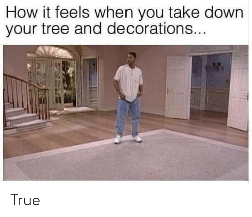 It Feels: How it feels when you take down  your tree and decorations... True