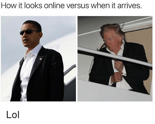 Funny, Lol, and How: How it looks online versus when it arrives Lol
