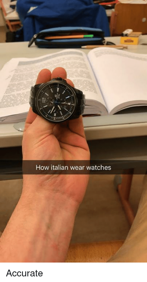 Memes, Watches, and 🤖: How italian wear watches Accurate