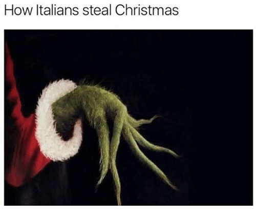 Christmas, How, and Steal: How Italians steal Christmas