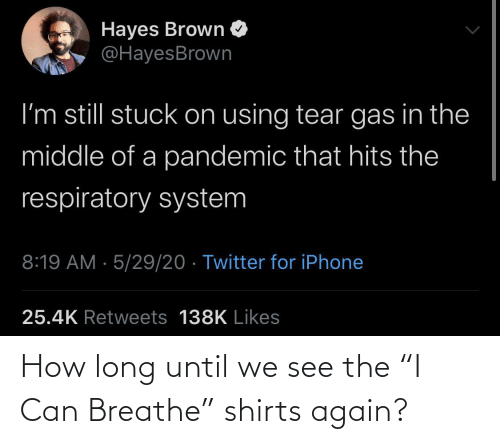 "Breathe: How long until we see the ""I Can Breathe"" shirts again?"