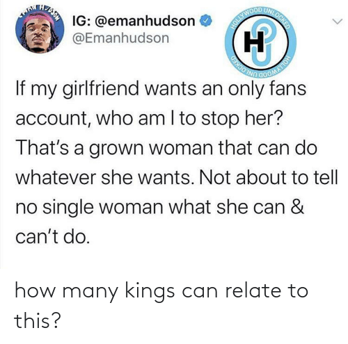 Relate: how many kings can relate to this?