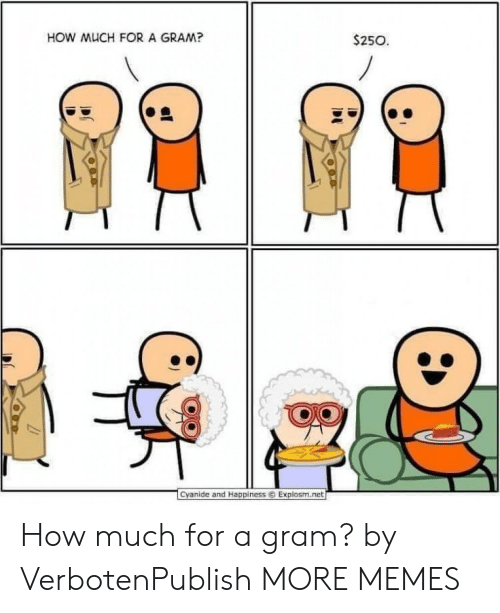 ret: HOW MUCH FOR A GRAM?  $250  1  Cyanide and Happiness ⓒ Explosm.ret How much for a gram? by VerbotenPublish MORE MEMES
