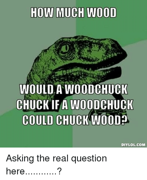 HOW MUCH WOOD WOULD a WOODCHUCK CHUCK IFA WOOD CHUCK COULD ...