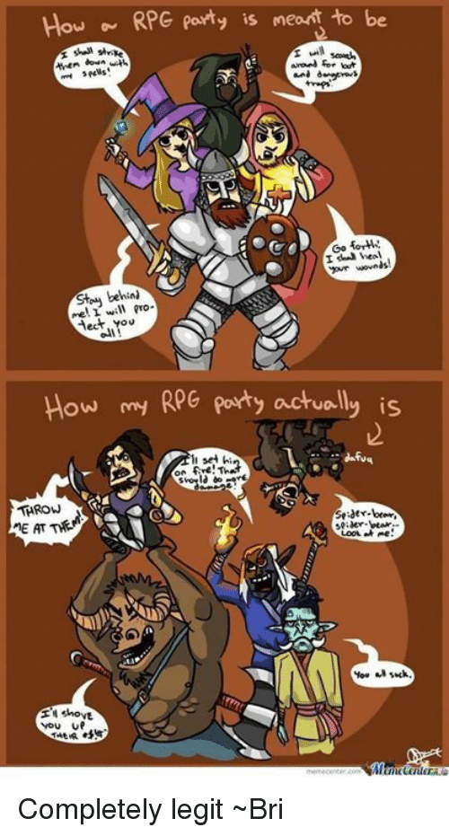 How RPG Party Is Meant To Be Down With Forth I Heal Your