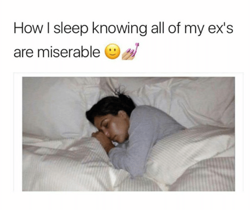 how sleep knowing all of my exs are miserable 11229176 🔥 25 best memes about memes memes, meme generator