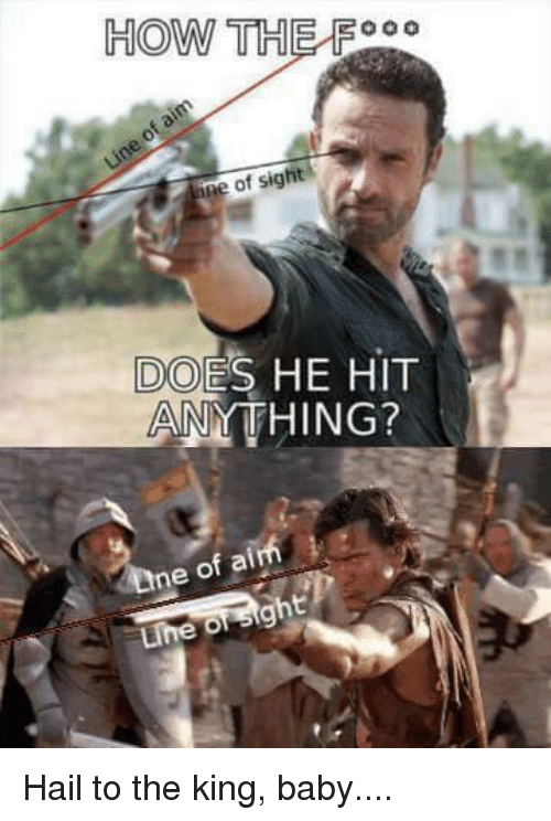 Memes, 🤖, and Hail: HOW TH F ine of sight DOES HE HIT