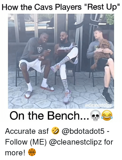 """Memes, 🤖, and Rest: How the Cavs Players """"Rest Up""""  On the Bench Accurate asf 🤣 @bdotadot5 - Follow (ME) @cleanestclipz for more! 🏀"""