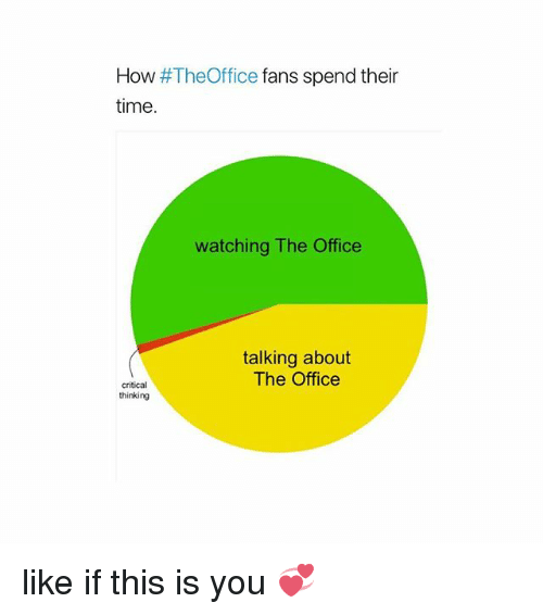 Memes, The Office, and Office: How #TheOffice fans spend their  time.  watching The Office  talking about  The Office  critical  thinking like if this is you 💞