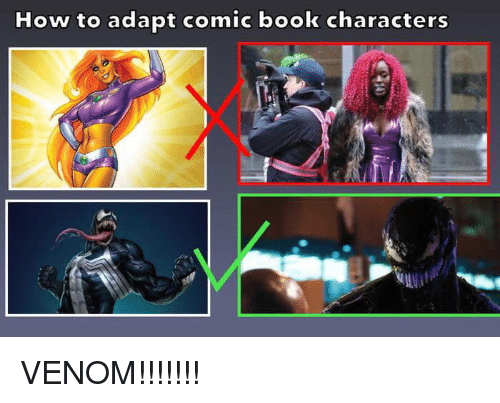 Funny, Book, and How To: How to adapt comic book characters VENOM!!!!!!!
