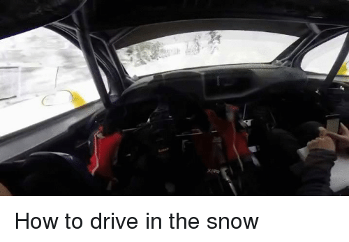 rally car: How to drive in the snow