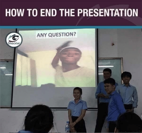 presentation: HOW TO END THE PRESENTATION  ANY QUESTION?  Shocklet