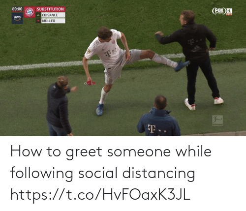 social: How to greet someone while following social distancing https://t.co/HvFOaxK3JL