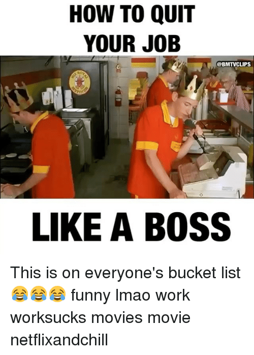 Funny Quit Job Meme : How to quit your job like a boss this is on everyone s