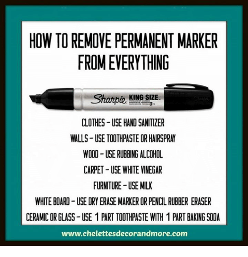 how to remove permanent marker from everything clothes use hand