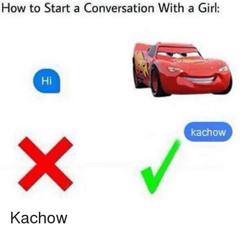 How do i start a conversation with a girl