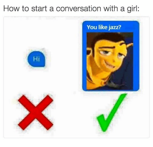 How to get in a conversation with a girl