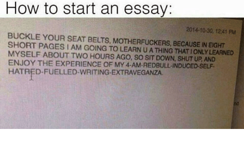 write a funny essay about myself