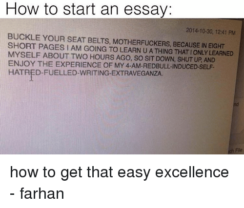 good ways to start university essays