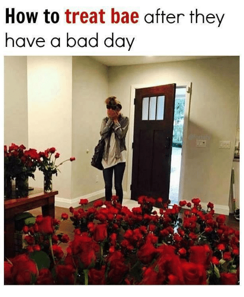 Bad, Bad Day, and Bae: How to  treat bae after they  have a bad day