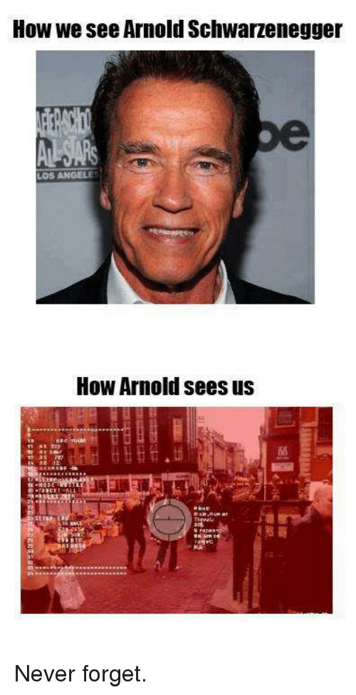 SIZZLE: How we see Arnold Schwarzenegger  How Arnold sees us Never forget.