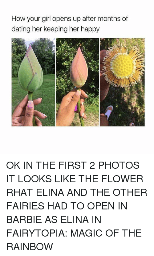 Barbie, Dating, and Tumblr: How your girl opens up after months of  dating her keeping her happy OK IN THE FIRST 2 PHOTOS IT LOOKS LIKE THE FLOWER RHAT ELINA AND THE OTHER FAIRIES HAD TO OPEN IN BARBIE AS ELINA IN FAIRYTOPIA: MAGIC OF THE RAINBOW