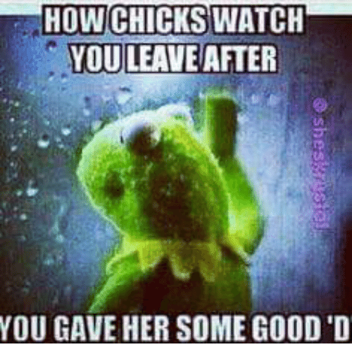Kermit the Frog, Watch, and Watches: HOWCHICKS WATCH  YOU LEAVE AFTER  YOU GAVE HER SOME GOOD