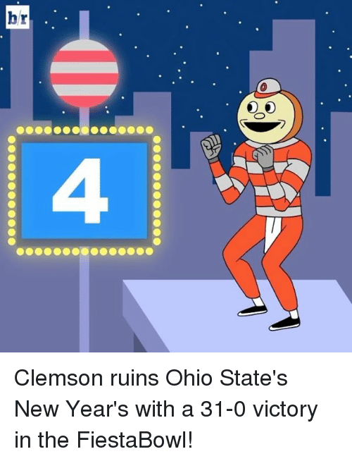 Sports, Ohio, and Ohio State: hr Clemson ruins Ohio State's New Year's with a 31-0 victory in the FiestaBowl!