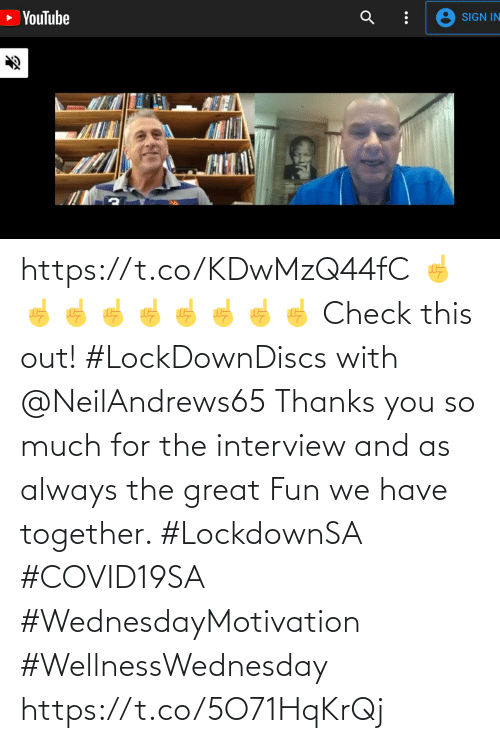The Interview: https://t.co/KDwMzQ44fC ☝️☝️☝️☝️☝️☝️☝️☝️☝️  Check this out! #LockDownDiscs with @NeilAndrews65  Thanks you so much for the interview and as always the great Fun we have together.   #LockdownSA #COVID19SA #WednesdayMotivation #WellnessWednesday https://t.co/5O71HqKrQj