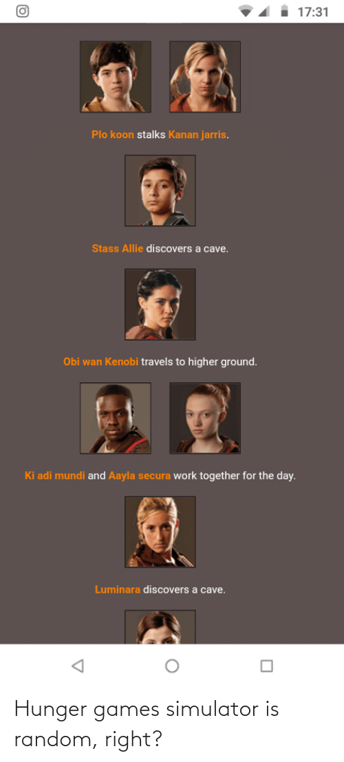 The Hunger Games: Hunger games simulator is random, right?