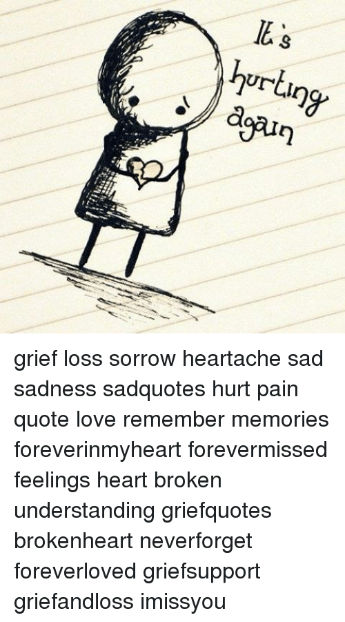 Memes, Grief, and 🤖: hurt grief loss sorrow heartache sad sadness sadquotes hurt pain quote love remember memories foreverinmyheart forevermissed feelings heart broken understanding griefquotes brokenheart neverforget foreverloved griefsupport griefandloss imissyou