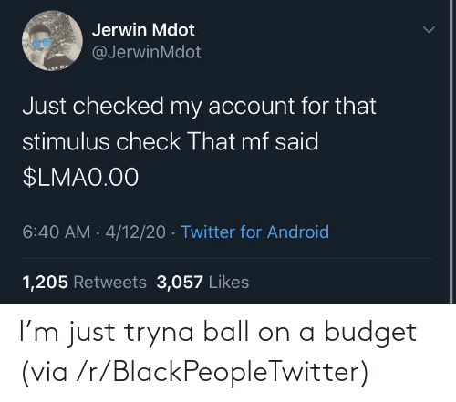 ball: I'm just tryna ball on a budget (via /r/BlackPeopleTwitter)