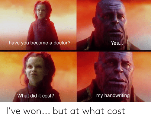 Cost: I've won... but at what cost