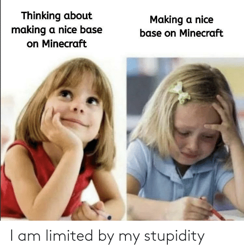 Stupidity: I am limited by my stupidity