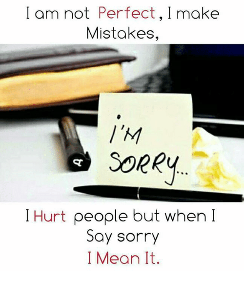 how to make someone say sorry