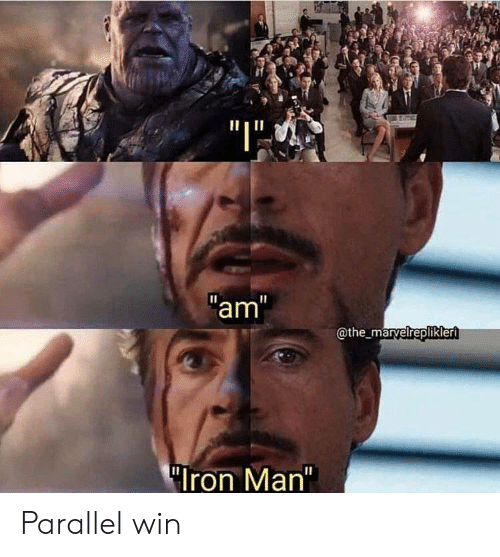 "Iron Man: ""I""  am""  @the_marvelreplikleri  ""Iron Man"" Parallel win"