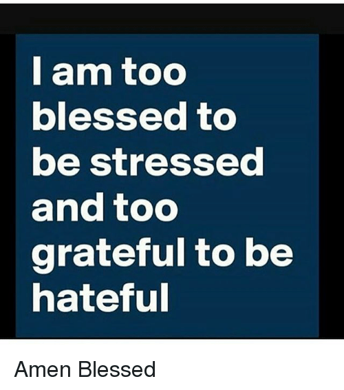i am too blessed to be stressed and too grateful 15415129 i am too blessed to be stressed and too grateful to be hateful amen