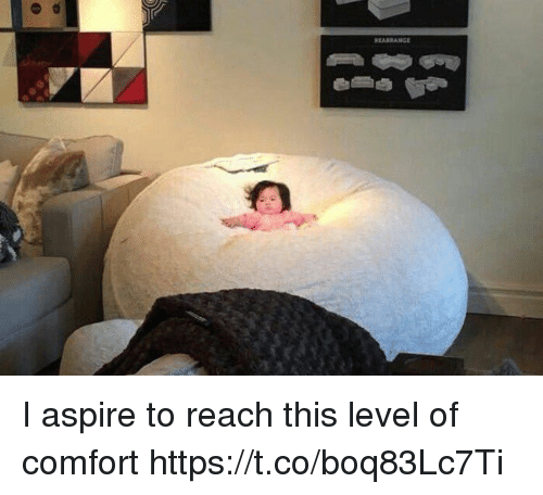 Girl Memes, Reach, and Level: I aspire to reach this level of comfort https://t.co/boq83Lc7Ti