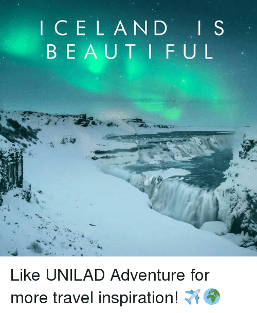 Dank, 🤖, and Traveller: I C E L A N D  I S  B E A U T I F U L Like UNILAD Adventure for more travel inspiration! ✈️🌍