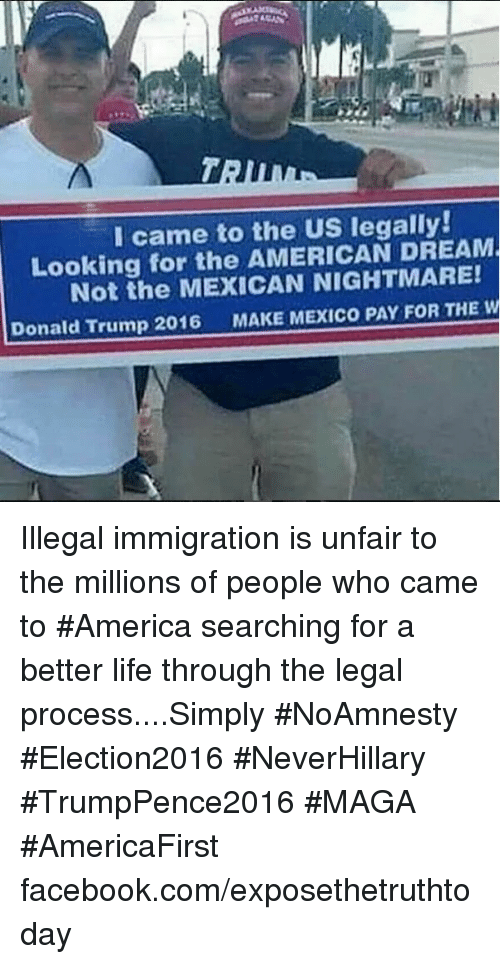 the illegal aliens that shattered the american dream Bob dane of the federation for american immigration reform takes a look at the most welcoming places in america  described as the dream state for illegal aliens .