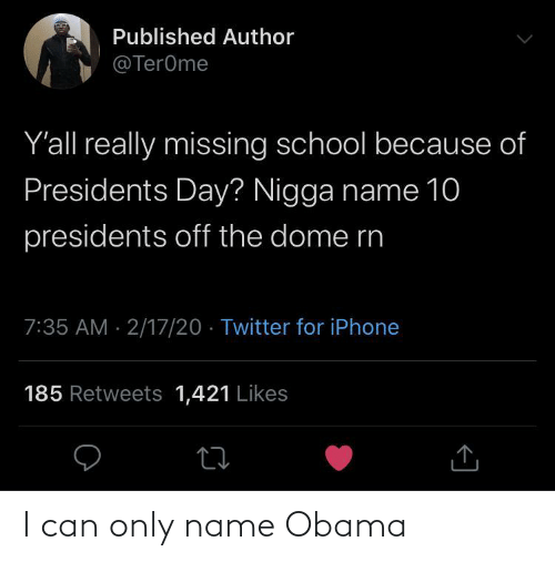 Obama, Can, and Name: I can only name Obama