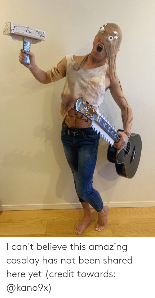 Cant Believe: I can't believe this amazing cosplay has not been shared here yet (credit towards: @kano9x)