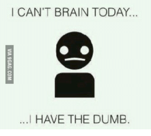 I Have The Dumb: I CAN'T BRAIN TODAY...  ...I HAVE THE DUMB