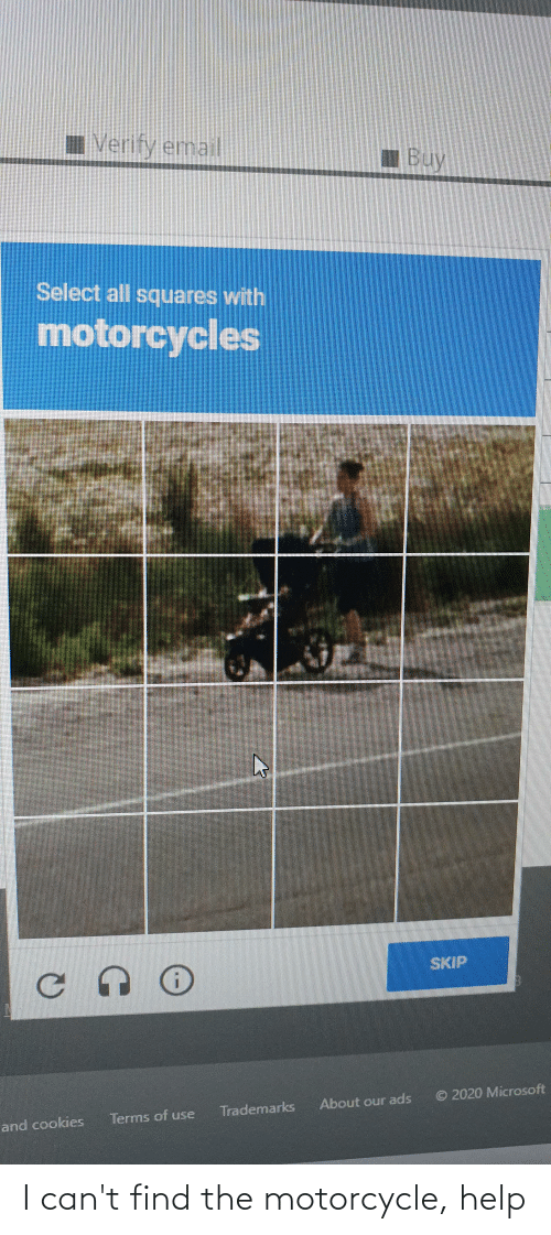 Motorcycle: I can't find the motorcycle, help