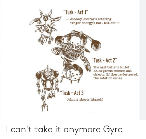 I Cant Take It Anymore: I can't take it anymore Gyro