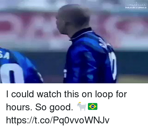 Soccer, Good, and Watch: I could watch this on loop for hours. So good. 🐐🇧🇷   https://t.co/Pq0vvoWNJv
