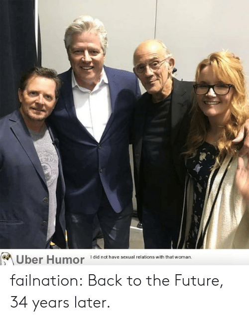 Back to the Future: I did not have sexual relations with that woman  Uber Humor failnation:  Back to the Future, 34 years later.