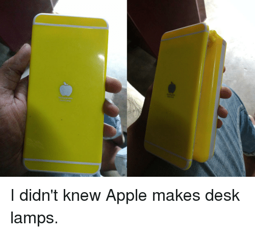 apple funny and appl i didnut knew apple makes desk lamps with funny lamps.